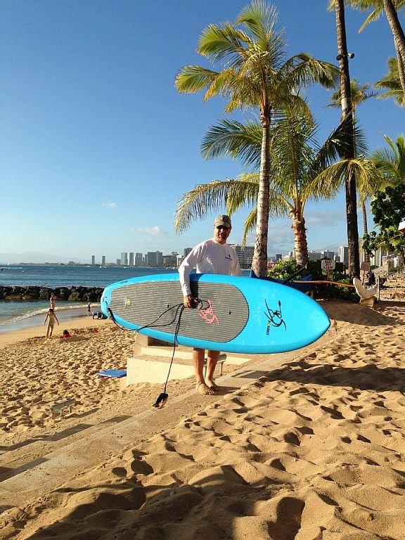 Kimo says 'Go paddle surf'!