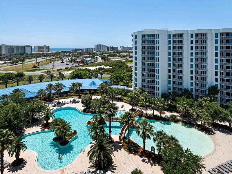From the patio overlooking the Gulf and lagoon pool!