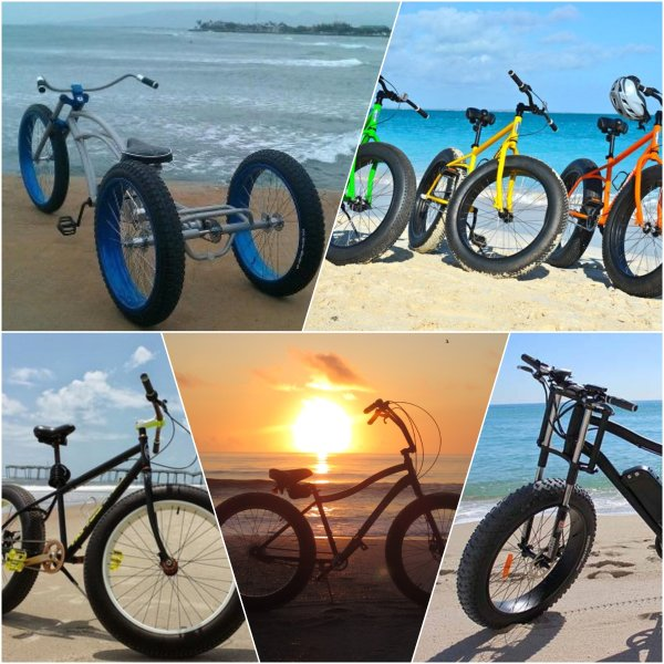 Riding a fat bike on the beach is a blast!