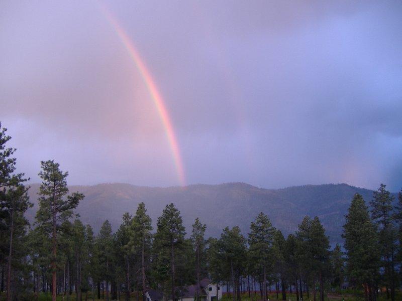 Regenbogen aus dem Deck.