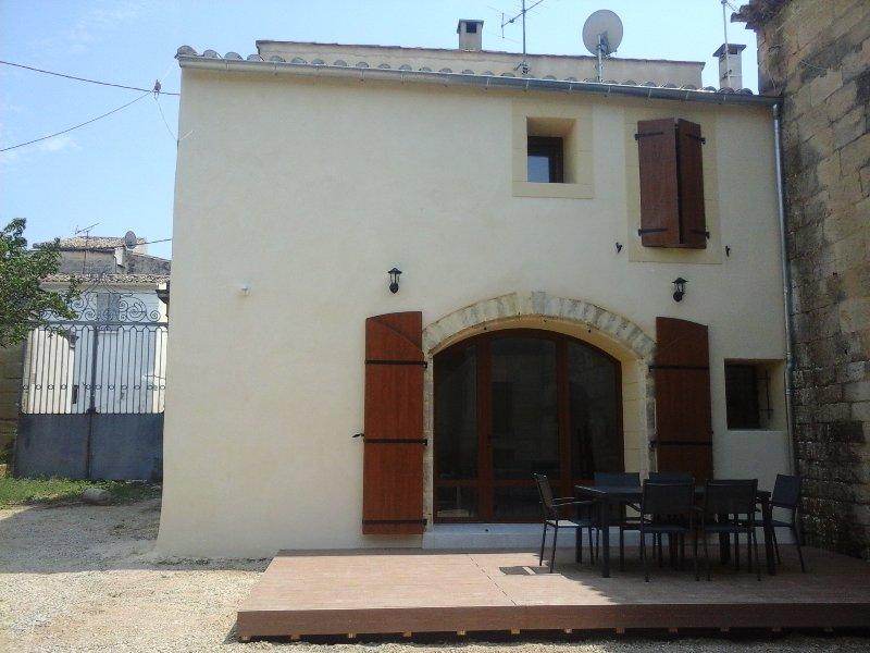 Het huis gezien vanaf de binnenplaats