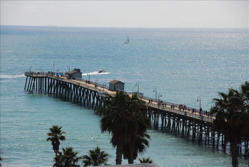 Commanding view of historic San Clemente pier from living room window