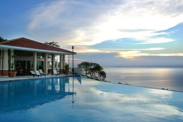 Watch the sunset from the beautiful Infinity Pool
