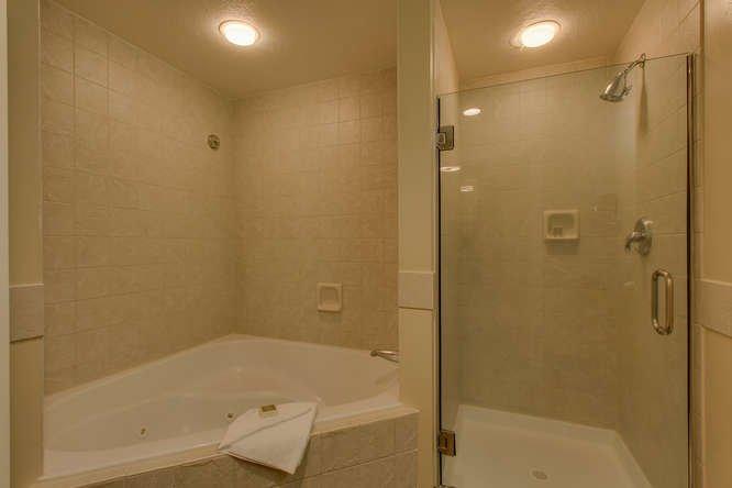 Full bathroom with jacuzzi tub