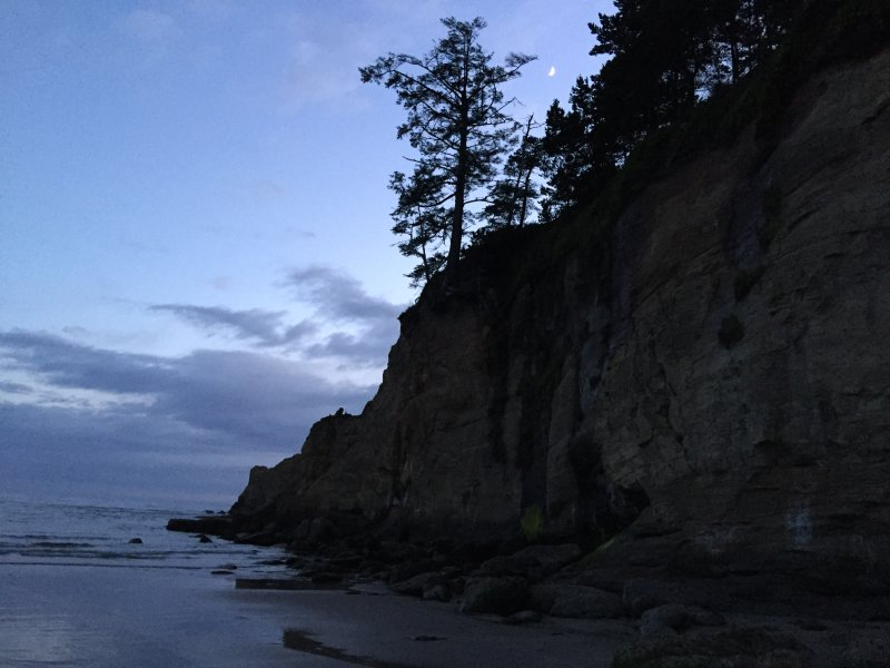 Otter Rock at beach level
