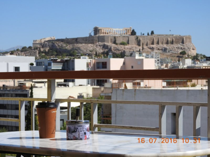 Open air veranda to a unic panoramic view to Acropolis, Lycabettus, Filopappou hill and Herodeum the