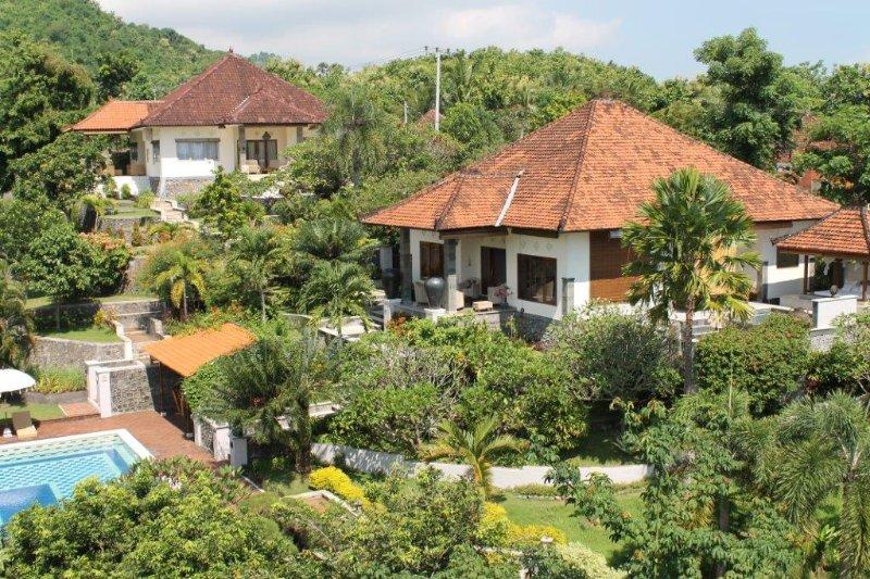 Vue de dessus Villa Bua