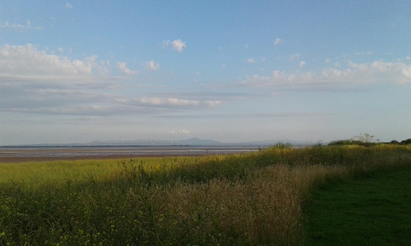 July evening from front of house, looking towards Cumbrian hills