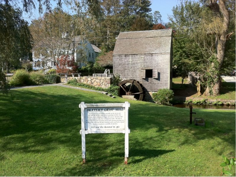 Dexter Grist Mill (Sandwich).  tour, camp; you can buy corn meal ground onsite!