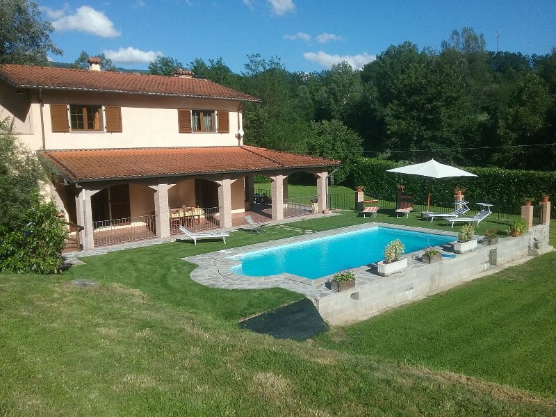Villa, pool and garden