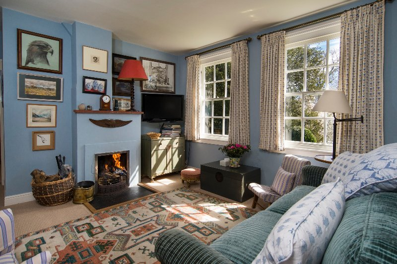 The upstairs 'Living Room', or Nursery, has squishy sofas and leads into two further bedrooms