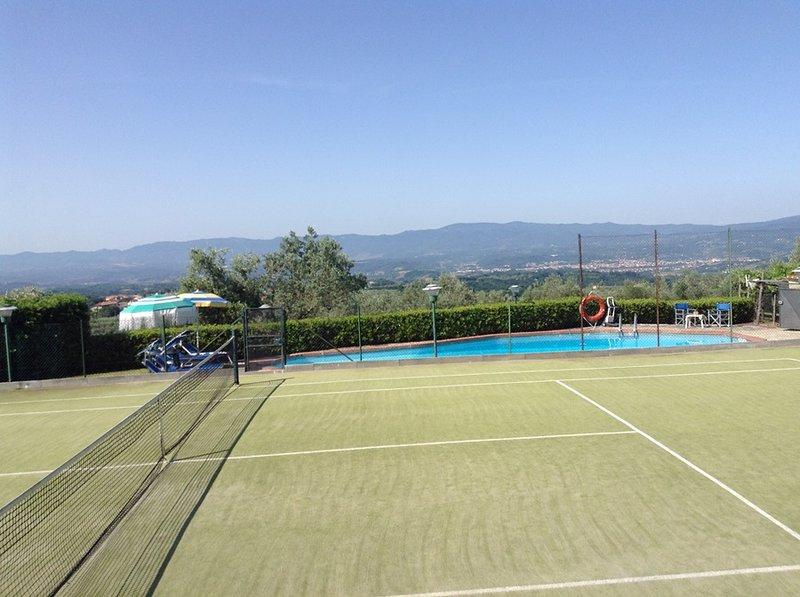 campo da tennis ben attrezzata