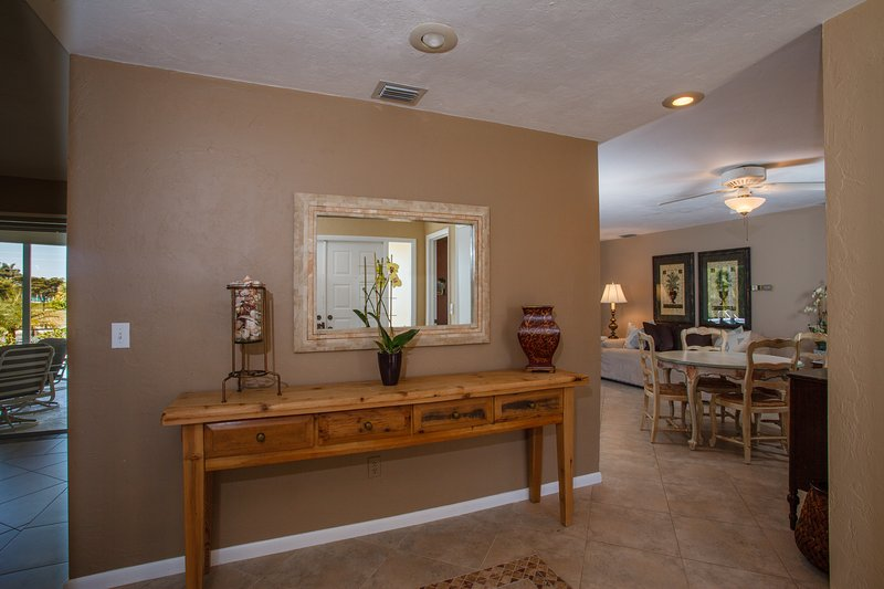 Foyer with view of Family Room located on Guest Suite Side of Home