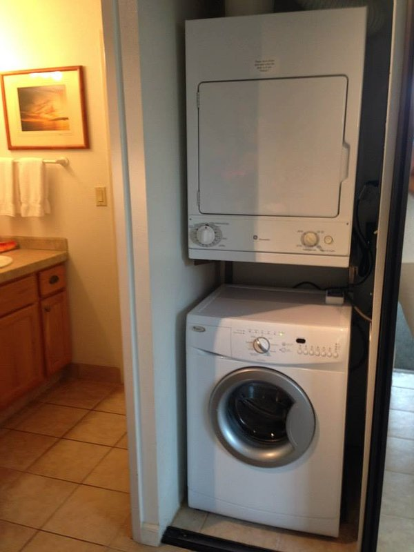 Washer and dryer in your home. Very convenient.