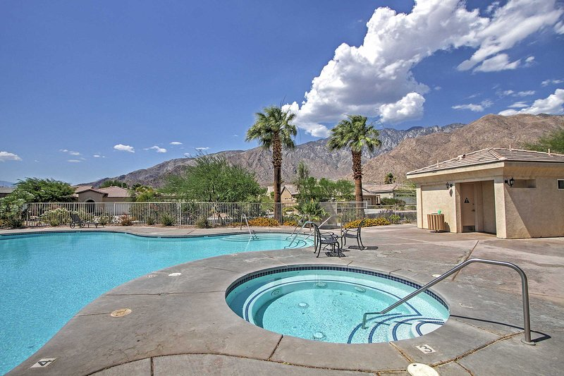 You'll love the phenomenal amenities and gorgeous mountain views provided at this Palm Springs vacation rental home!