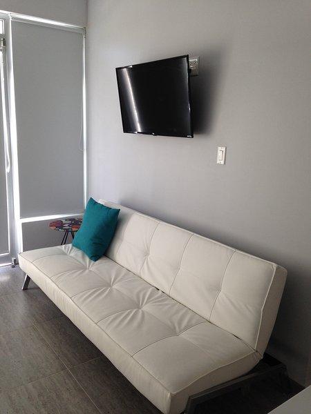 """Sala de estar 40 """"camas Plano TV sofá se abre para camas de casal fácil aberto e reposicionamento"""
