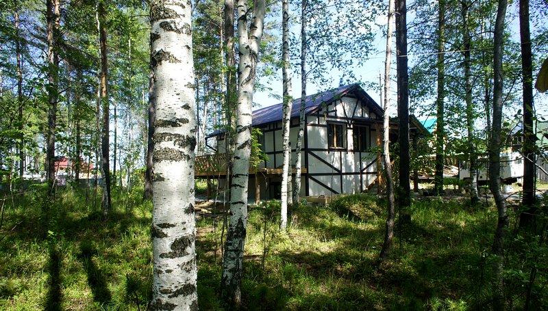 Maison alpin sur le lac Baïkal