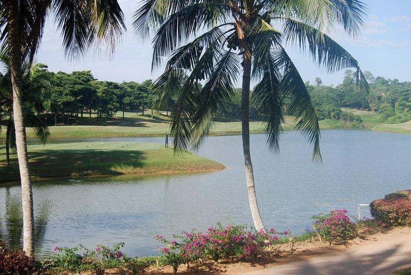 Vista do terraço do golfe,