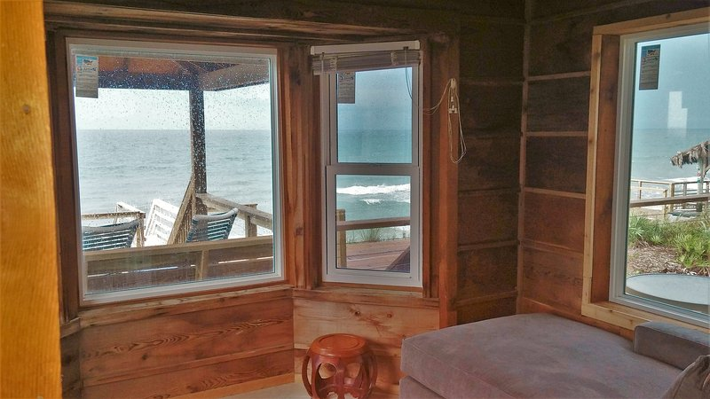 View of the ocean from your own private alcove with two new couch/chaise lounges