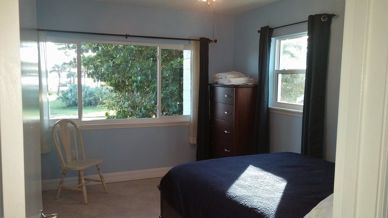 Relax on your new top-end mattress while you enjoy the view on the other side:  :Indian River