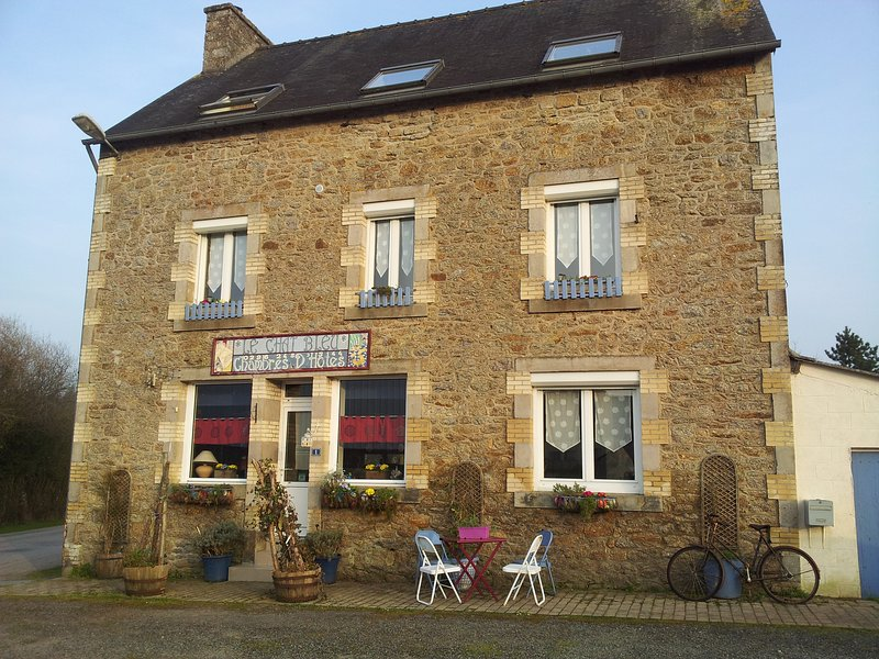 Chambres D'Hotes LE CHAT BLEU LA CHAMBRE VERTE, holiday rental in Kergrist Moelou