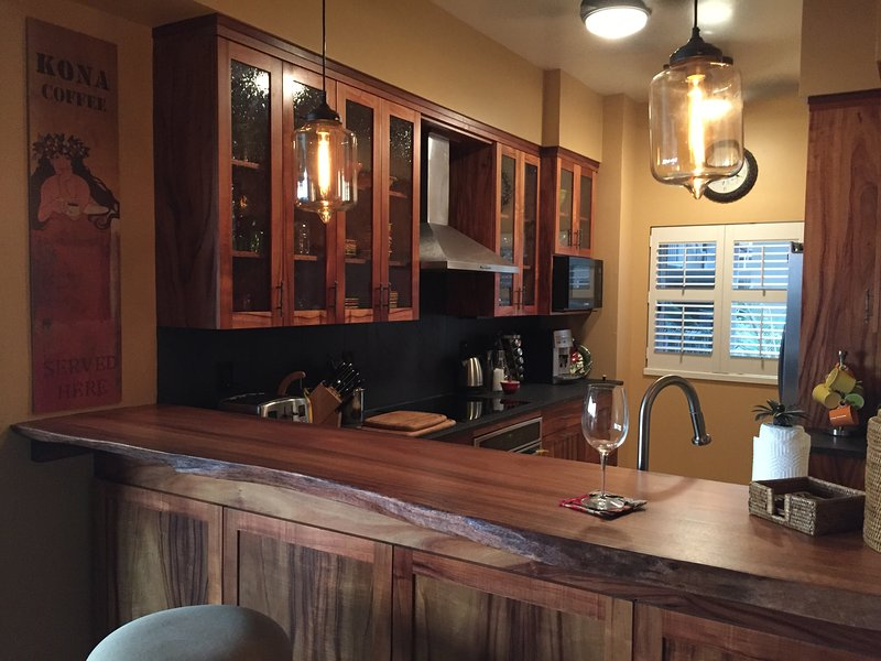 New all koa kitchen with new stainless  appliances  JULY 2016
