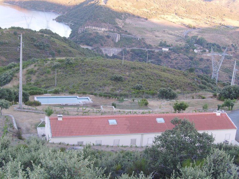 Seen from the viewpoint of the property on the Villa and the outdoor pool