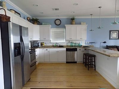 The kitchen is a chef's dream. Large for entertaining or family gatherings.
