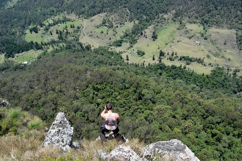 Don't Look Down ! Even As Our Valley Reveals Itself From Atop Buchanans Fort.