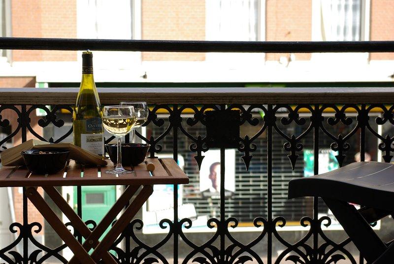 Zimmer 2 Balkon mit Blick auf die Weimarstraat