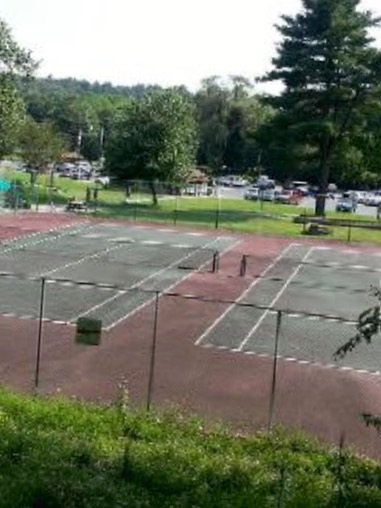 Tennis courts inside community