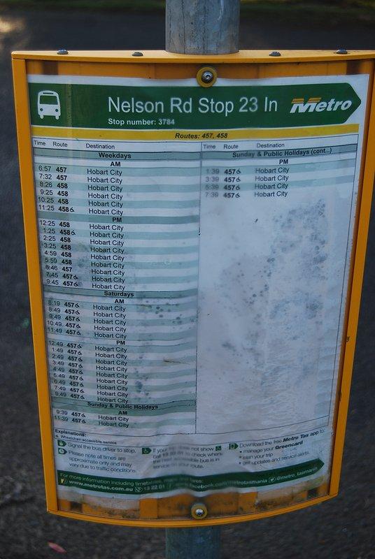 City bus at doorstep