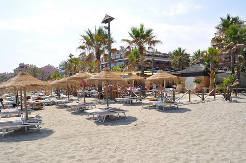 MARBELLA. BEACH WITH NATURAL ARENA