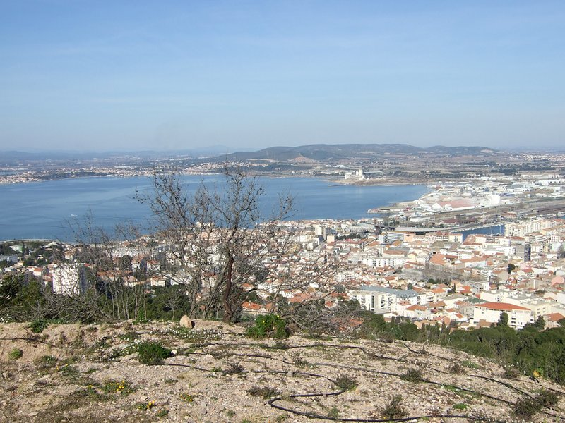 View of Sete from Mont St Clair
