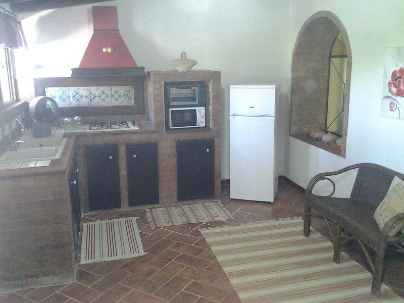 The indoor kitchen