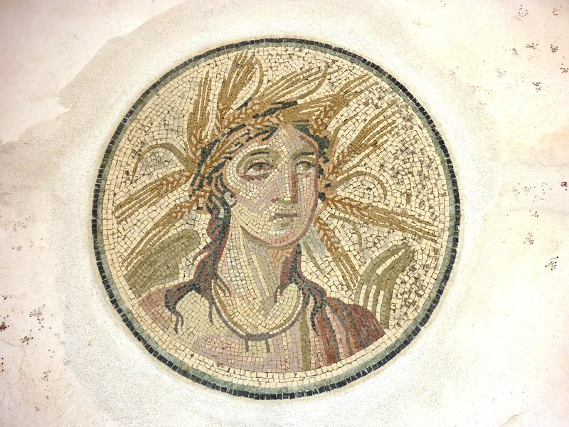 Mosaic decoration on the terrace