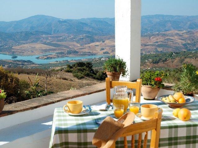 Front-Terrasse mit herrlichem Blick auf See und Meer