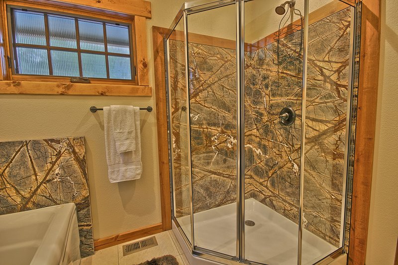 Master Bathroom With Marble Shower