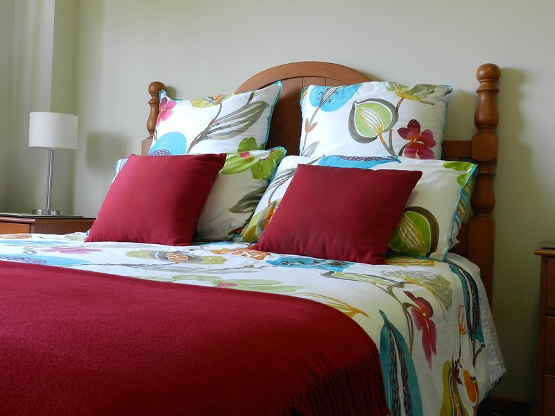 Relax in a comfortable bed and enjoy a peaceful sleep.