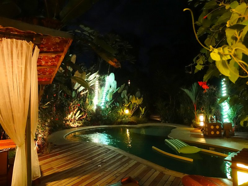 Deck pool by night