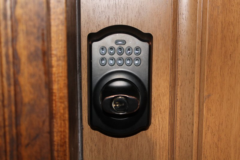 NO KEYS TO WORRY ABOUT - ELECTRONIC CODE ENTRY