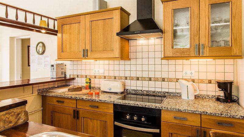 cuisine Cottage appartement bien équipé.