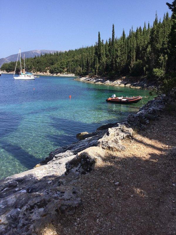 Foki beach, 1 km away