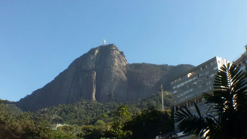 View from the apartment - just below the Corcovado and blessed by the Christ! :-)