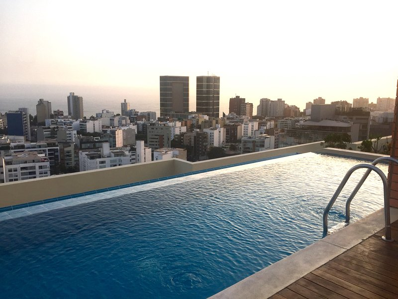 Swimming pool on the top floor