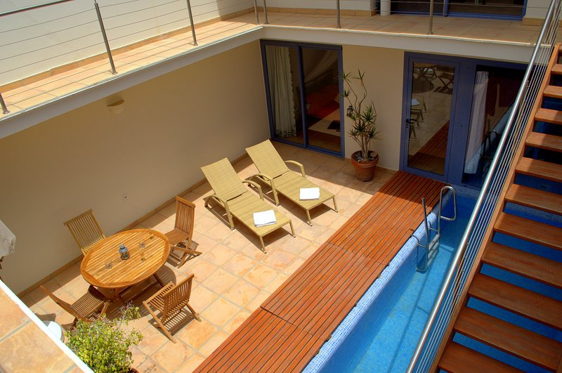Patio with private pool.