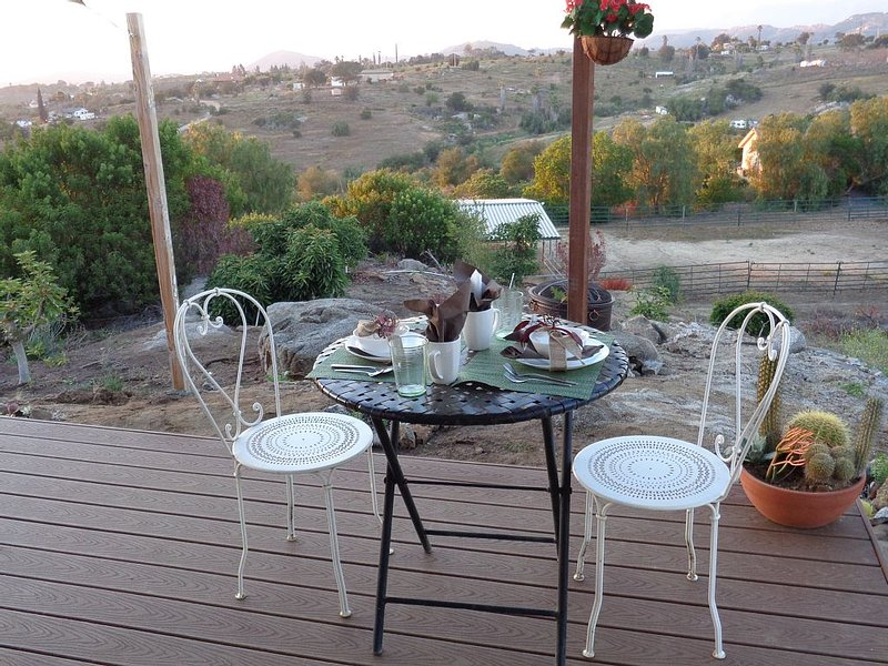 Your own private patio and view...away from the maddening crowds...