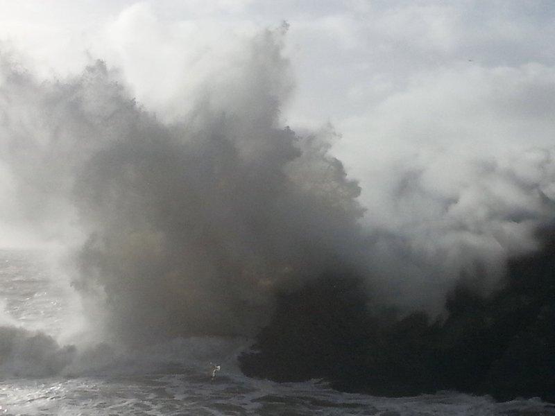 tempête hivernale, Polperro