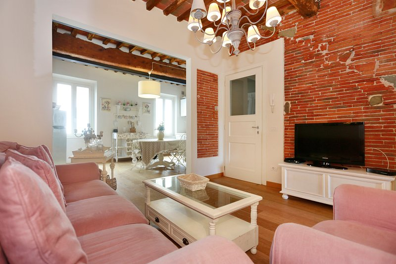 2 bedrooms and 2 bathrooms in the old town with air-conditioning,wifi,tvsat., holiday rental in Lucca