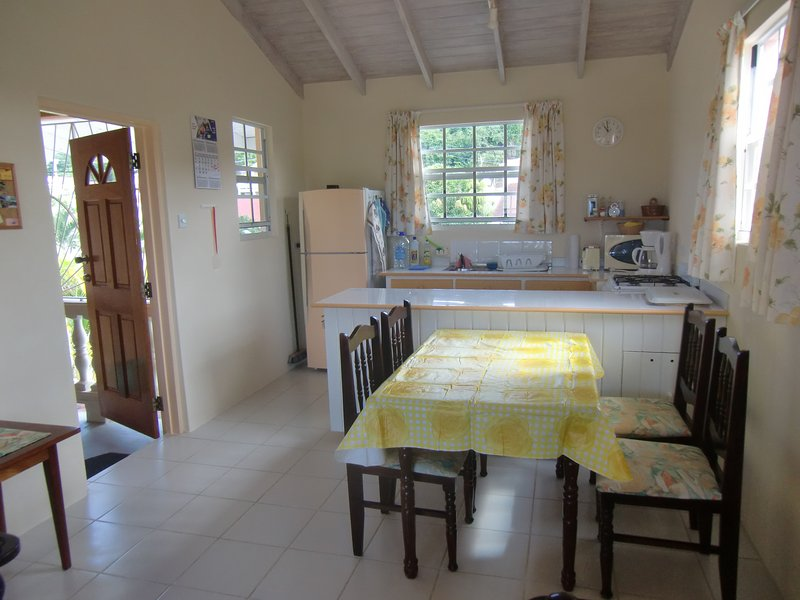 Dining area with kitchen